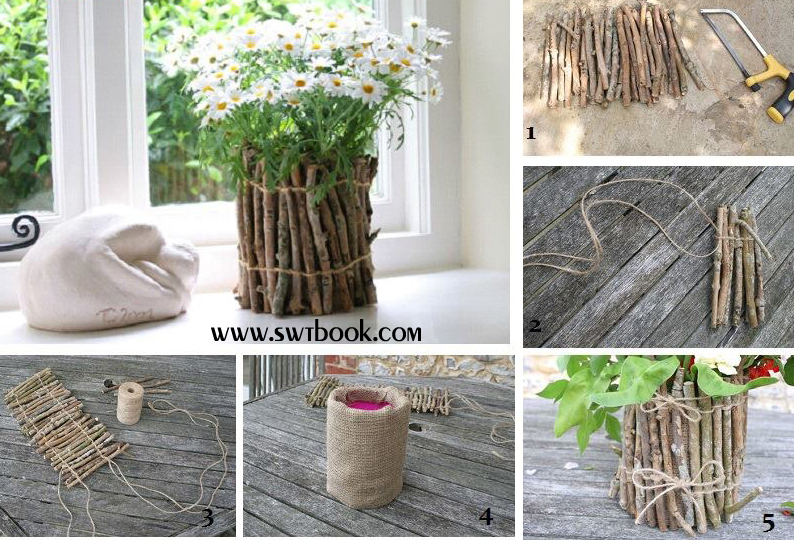 Creative ideas for home decoration from waste materials for Creative ideas out of waste